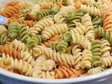 tri colored pasta