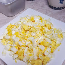 chopped boiled eggs