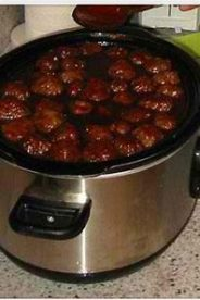 CROCKPOT BBA PARTY MEATBALLS