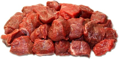 chopped up beef