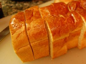 egg bread sliced